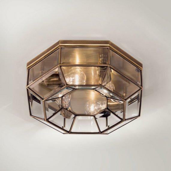 edle wohnraum lampe eckige glas deckenlampe mit messing einfassung von il fanale g nstig kaufen. Black Bedroom Furniture Sets. Home Design Ideas