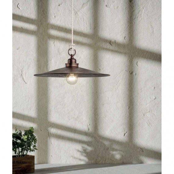 rustikale pendellampe la cantina in patiniertem eisen oder. Black Bedroom Furniture Sets. Home Design Ideas