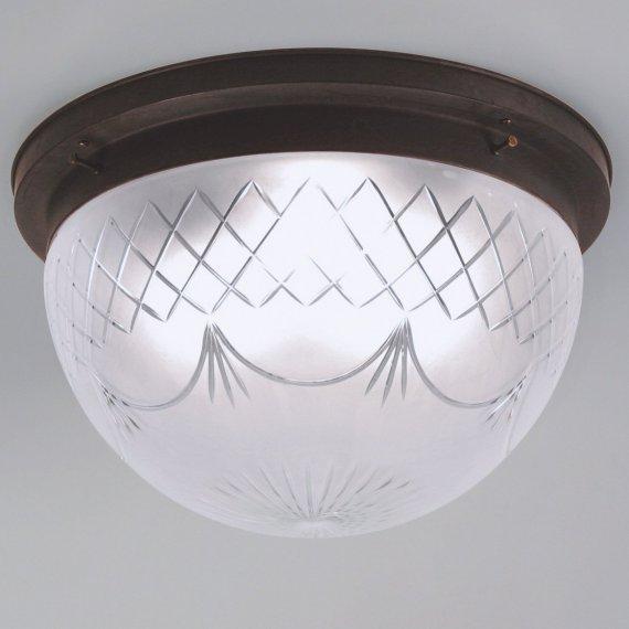 lampadari art deco : Historische Jugendstil-Deckenlampe mit Halterung in Messing Antik und ...