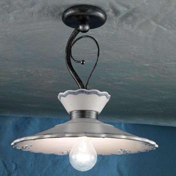 nostalgische deckenlampe mit gro em schirm im modernen landhausstil von ferroluce g nstig kaufen. Black Bedroom Furniture Sets. Home Design Ideas