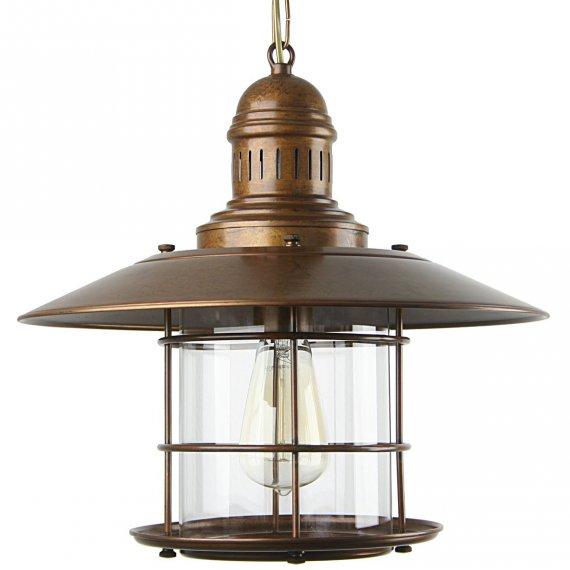 Maritime Lampe Laterne In Messing Und Glas Von Lustrarte