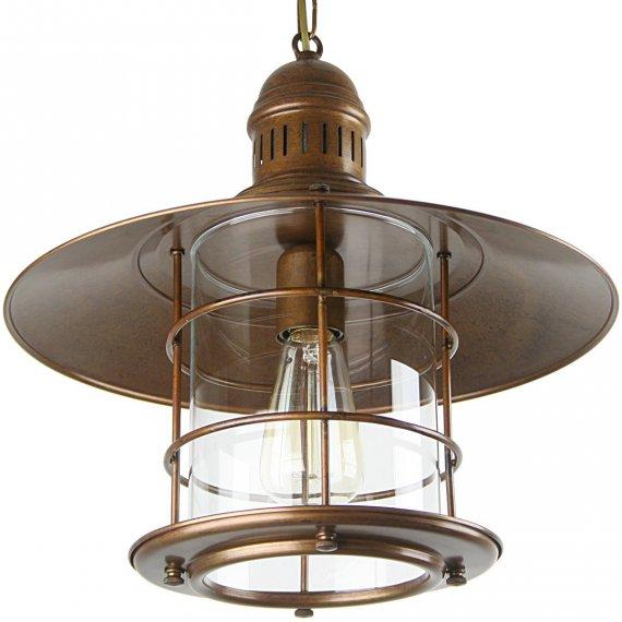 Rustikale Messing Laterne als ausgefallene Wohnraumlampe günstig kaufen bei Lampen Suntinger Shop