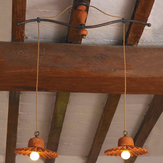 mehrflammige rustikale pendelleuchte im landhausstil von signa g nstig kaufen bei lampen. Black Bedroom Furniture Sets. Home Design Ideas