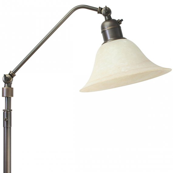 stehlampe und leselampe mit glasschirm im modernen landhausstil von menzel leuchten lampen. Black Bedroom Furniture Sets. Home Design Ideas