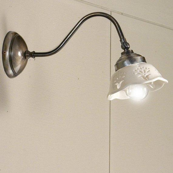 nostalgische wandlampe im landhausstil. Black Bedroom Furniture Sets. Home Design Ideas