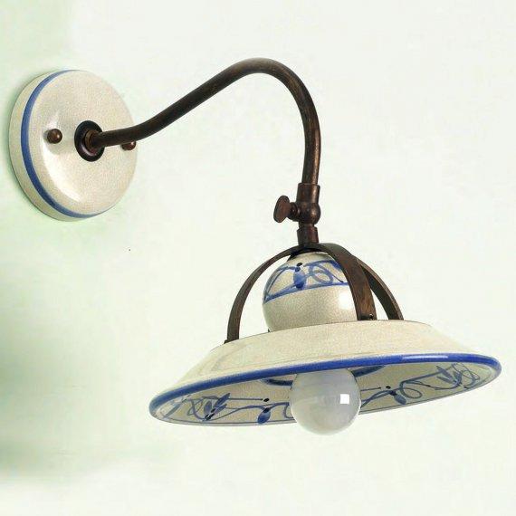 nostalgische wandlampe im italienischen landhausstil. Black Bedroom Furniture Sets. Home Design Ideas