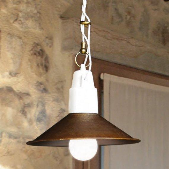 pendelleuchte altair mit kupferschirm aus der serie le. Black Bedroom Furniture Sets. Home Design Ideas
