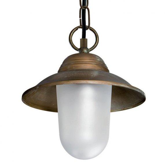 rustikale messing pendelleuchte mit glassturz als au enlampe geeignet lampen suntinger shop. Black Bedroom Furniture Sets. Home Design Ideas