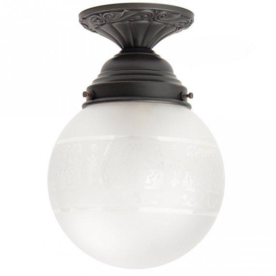 rena jugendstil lampe mit kugelglas im stil antiker lampen. Black Bedroom Furniture Sets. Home Design Ideas