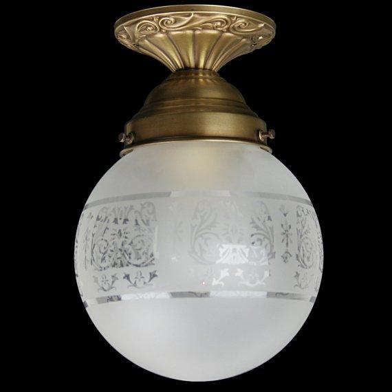 Jugendstil Deckenlampe rena jugendstil-lampe mit kugelglas im stil antiker lampen von