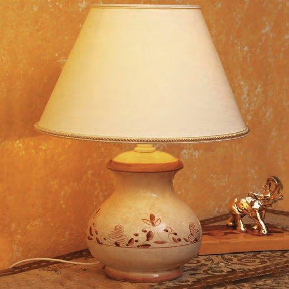italienische keramik vasenleuchte mit handgemaltem dekor. Black Bedroom Furniture Sets. Home Design Ideas