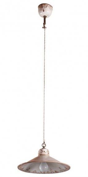 rustikale stubenlampe in handbemalter keramk. Black Bedroom Furniture Sets. Home Design Ideas