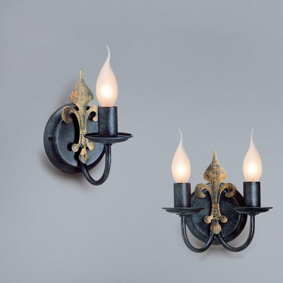 rustikaler wandleuchter im antiken stil von hans k gl wohnlicht g nstig kaufen bei lampen. Black Bedroom Furniture Sets. Home Design Ideas