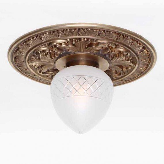 Historische Jugendstil Lampe Mit Großer Und Prachtvoller