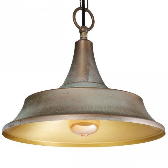 vintage leuchte in messing mit gestuftem industriestil schirm lampen suntinger shop. Black Bedroom Furniture Sets. Home Design Ideas