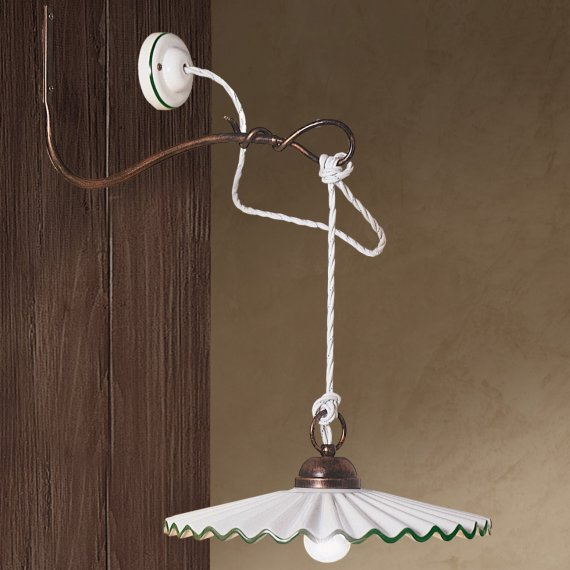 Rustikale wandlampe zur tischbeleuchtung von ferroluce g nstig kaufen bei lampen suntinger shop - Rustikale wandlampe ...